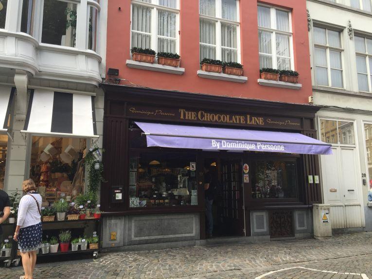 Loja de Chocolates mais famosa de Bruges